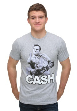 Men's Johnny Cash Bird Heather Grey T-Shirt