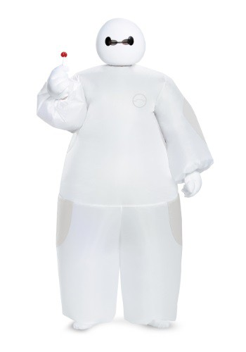Kids White Baymax Inflatable Costume