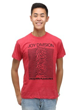 Joy Division Unknown Pleasures Heather Red T-Shirt