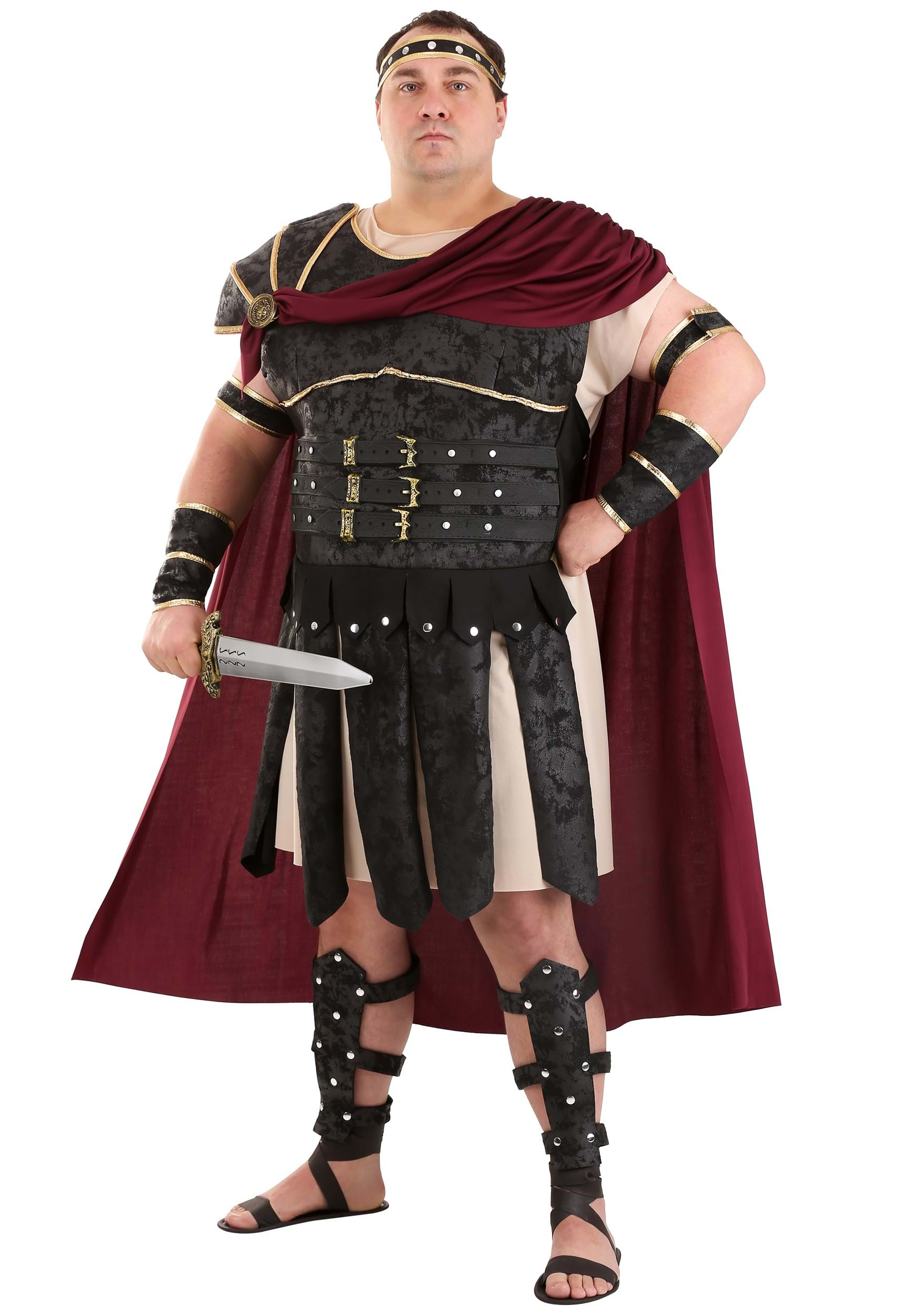 Roman Gladiator Costume  sc 1 st  Fun.com & Plus Size Roman Gladiator Costume