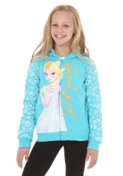 Girls Frozen Elsa Tiara Hoodie