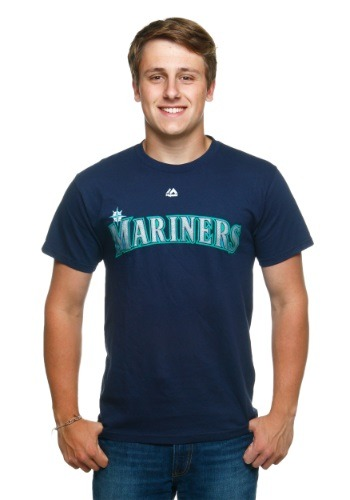 Official Wordmark Seattle Mariners Men's T-Shirt
