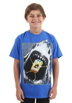 Boys Spongebob Shark Panic T-Shirt