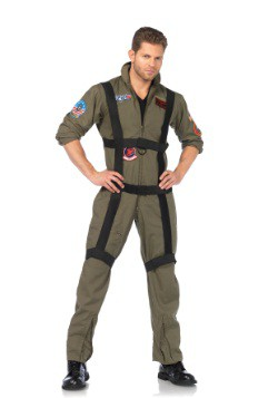 Top Gun Jumpsuit with Harness For Men