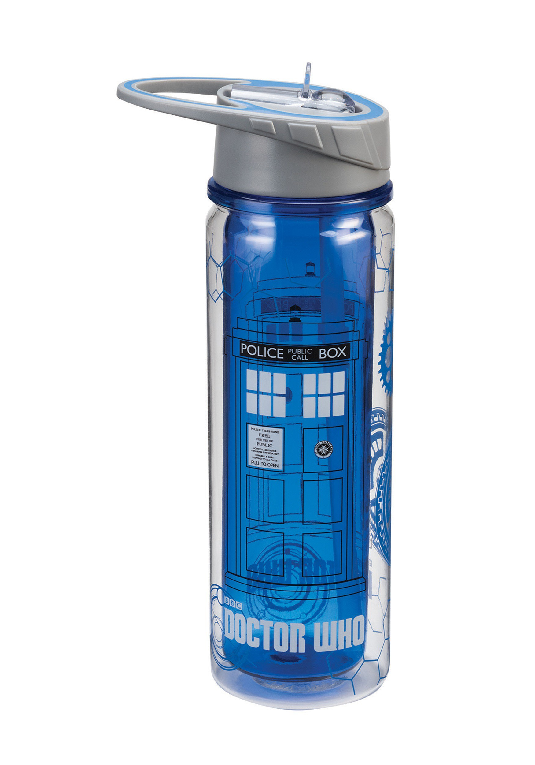 dr who tardis 18oz tritan water bottle. Black Bedroom Furniture Sets. Home Design Ideas