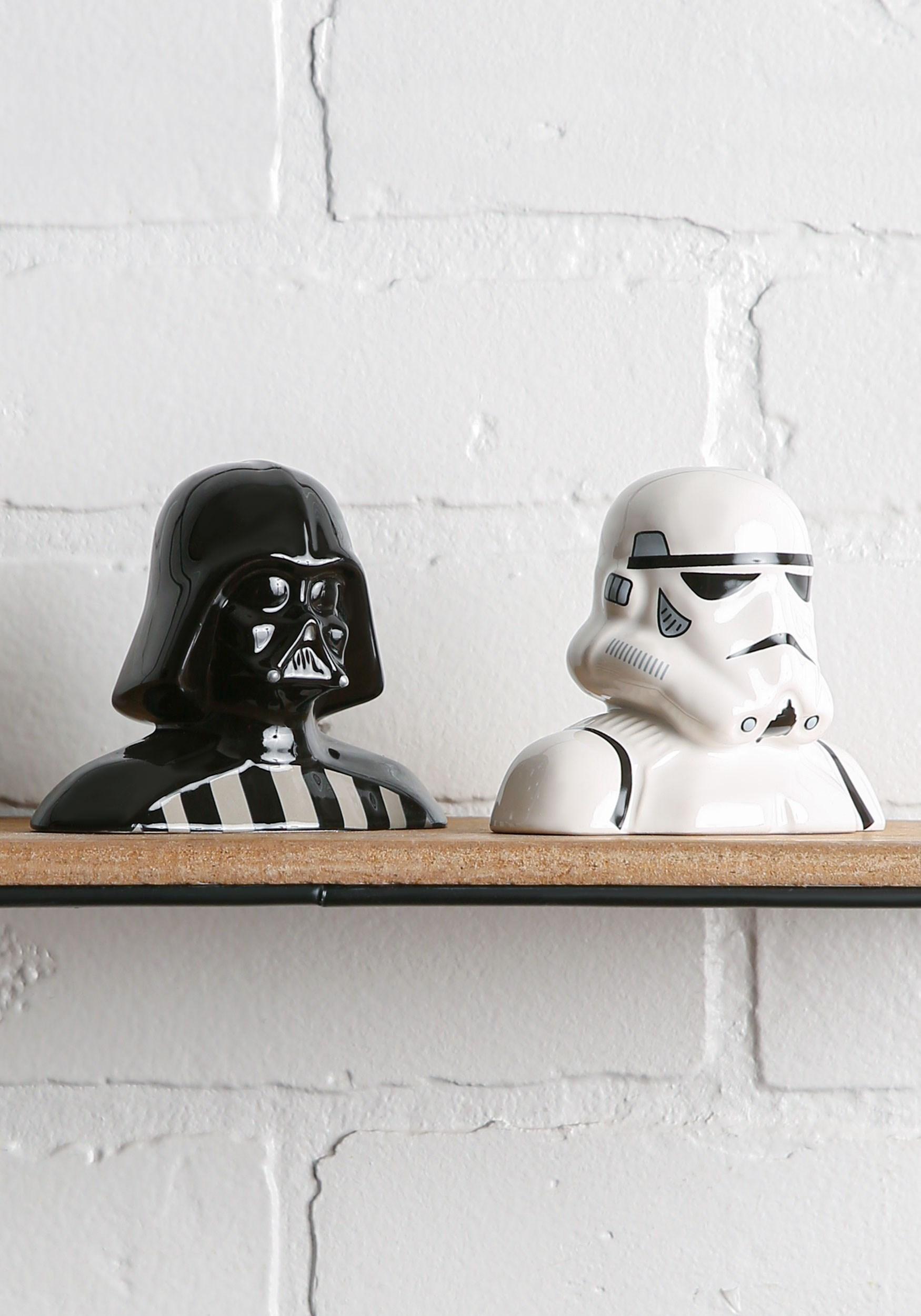 Star wars darth vader storm trooper salt pepper shakers - Darth vader and stormtrooper salt and pepper shakers ...