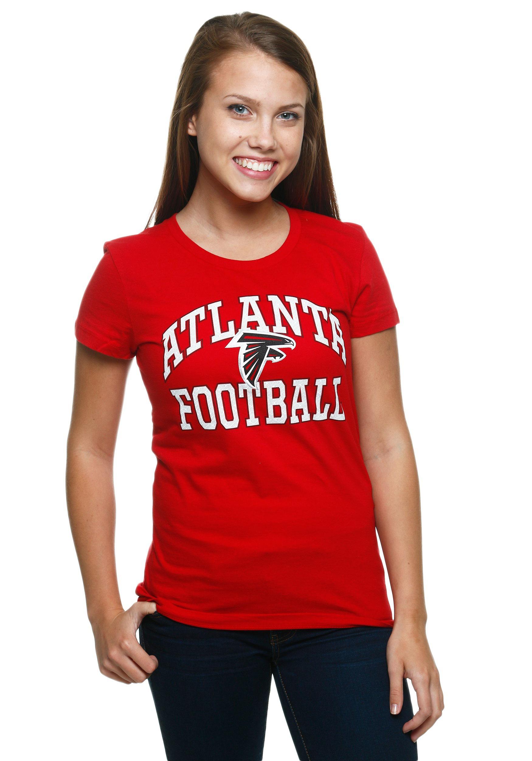 separation shoes 3ae0c 69772 Atlanta Falcons Franchise Fit Women's T-Shirt