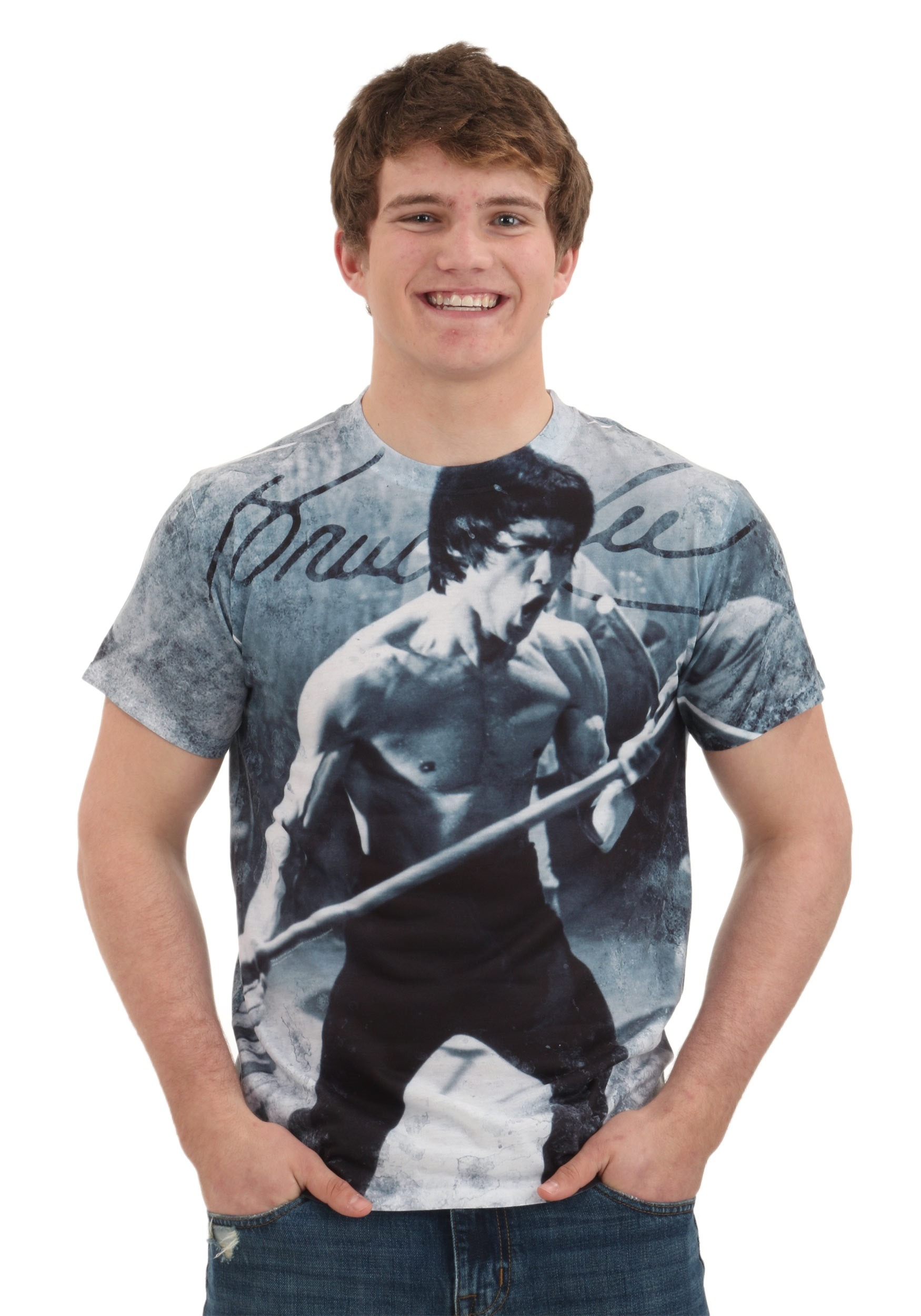 Bruce Lee Whoooaa Men's T-Shirt TVBLE166FBATPP1