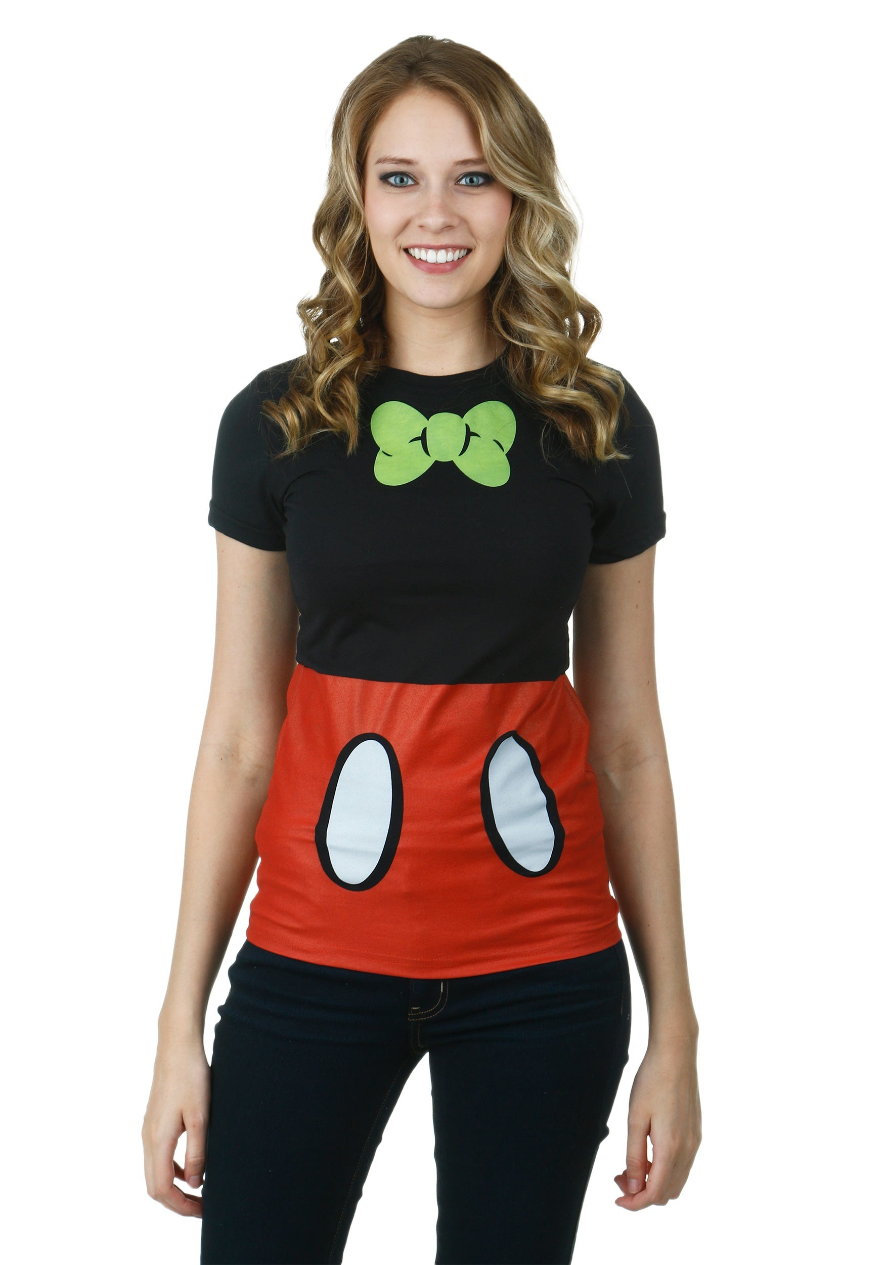 Juniors mickey mouse costume t shirt for Costume t shirts online