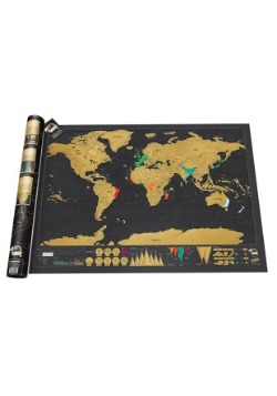 Personalized World Scratch Map Poster