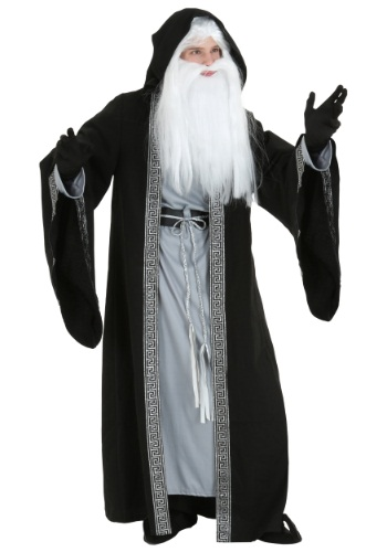 Men's Plus Size Deluxe Wizard Costume