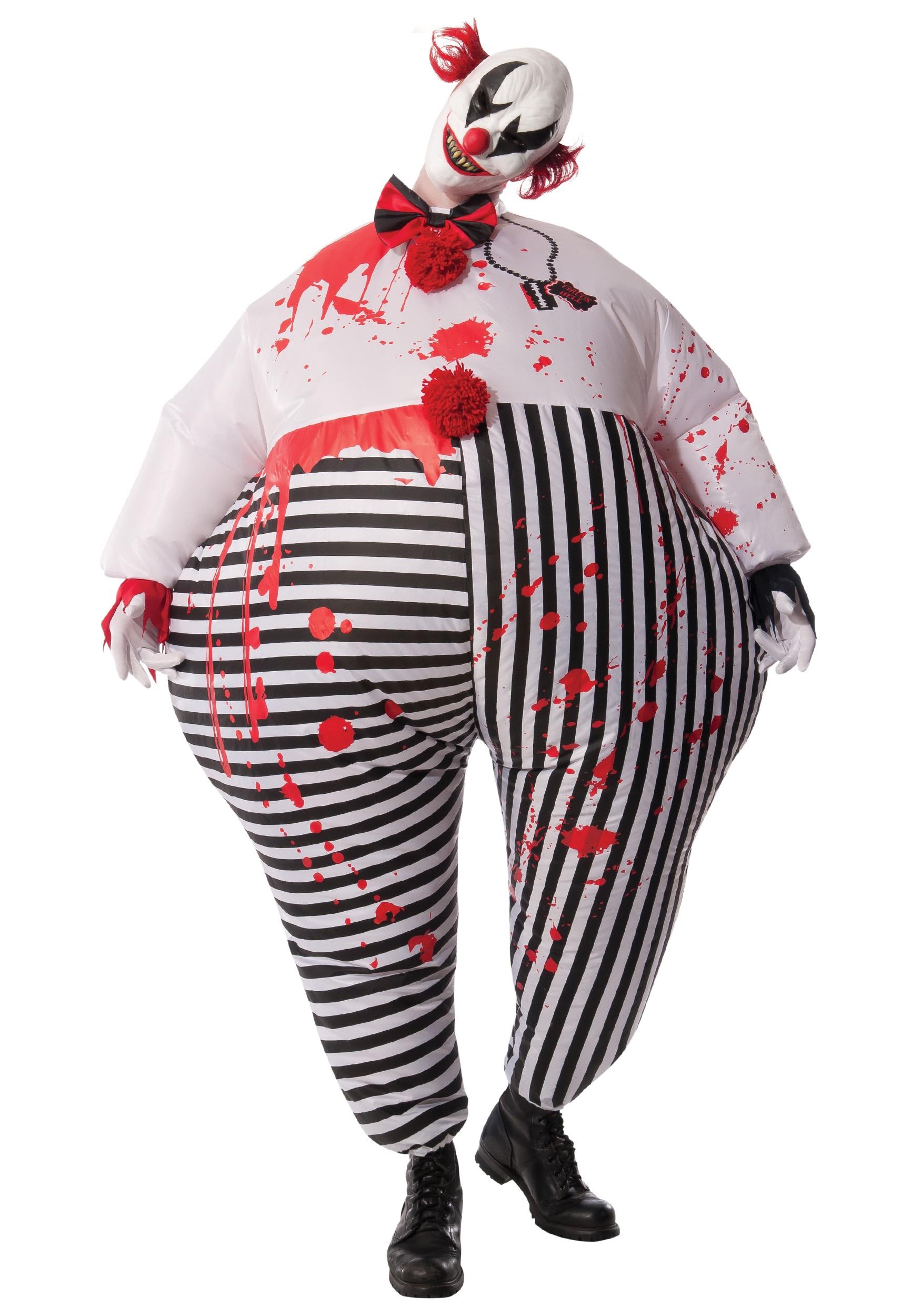 Adult Inflatable Evil Clown Costume  sc 1 st  Fun.com & Adultu0027s Inflatable Evil Clown Costume