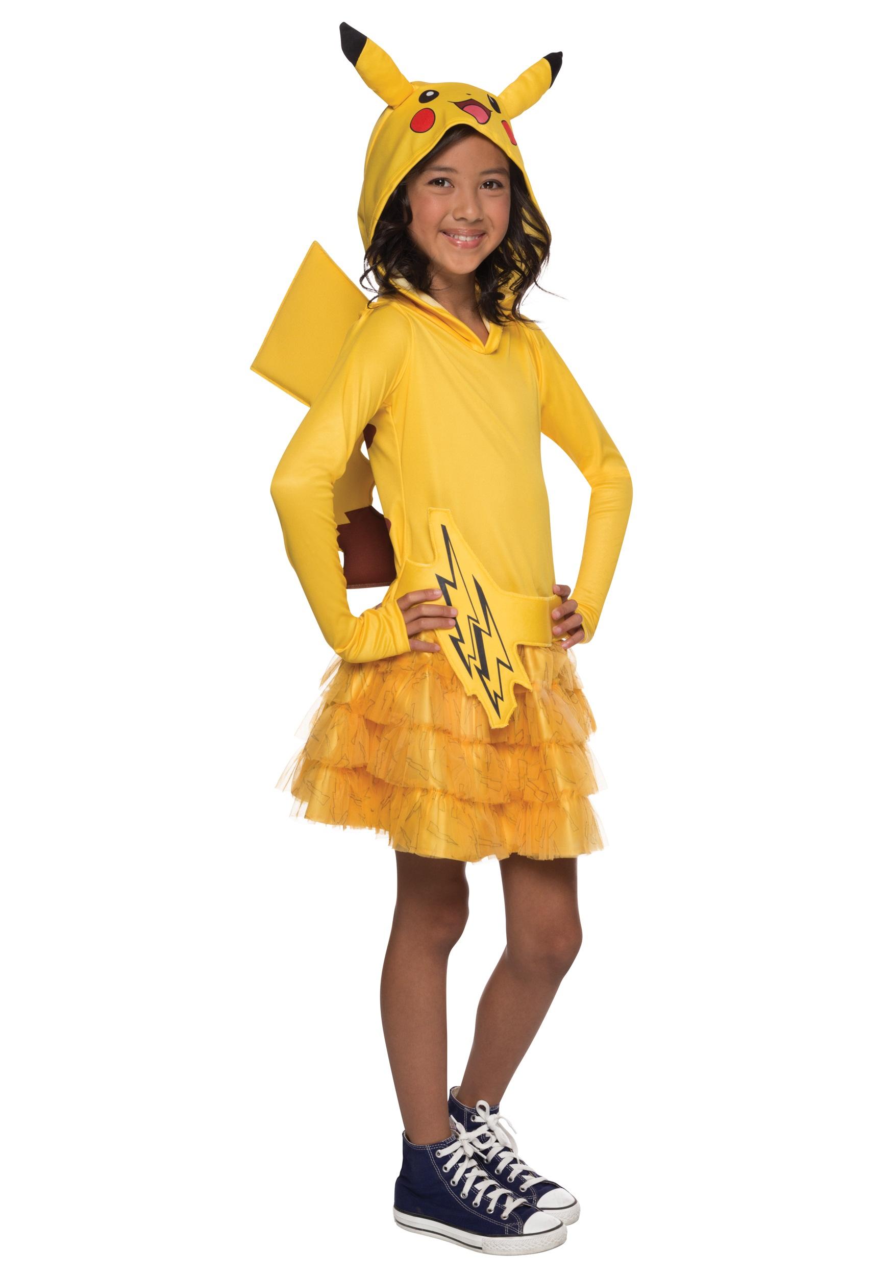 Girls Pikachu Hoodie Dress from Pokemon