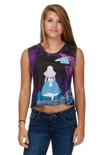 Alice In Wonderland All Mad Here Juniors Tank Top