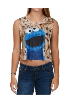 Cookie Monster Big Photoreal Cookie Juniors Tank  sc 1 st  Fun.com & Cookie Monster Plush Costume for Infant/Toddler