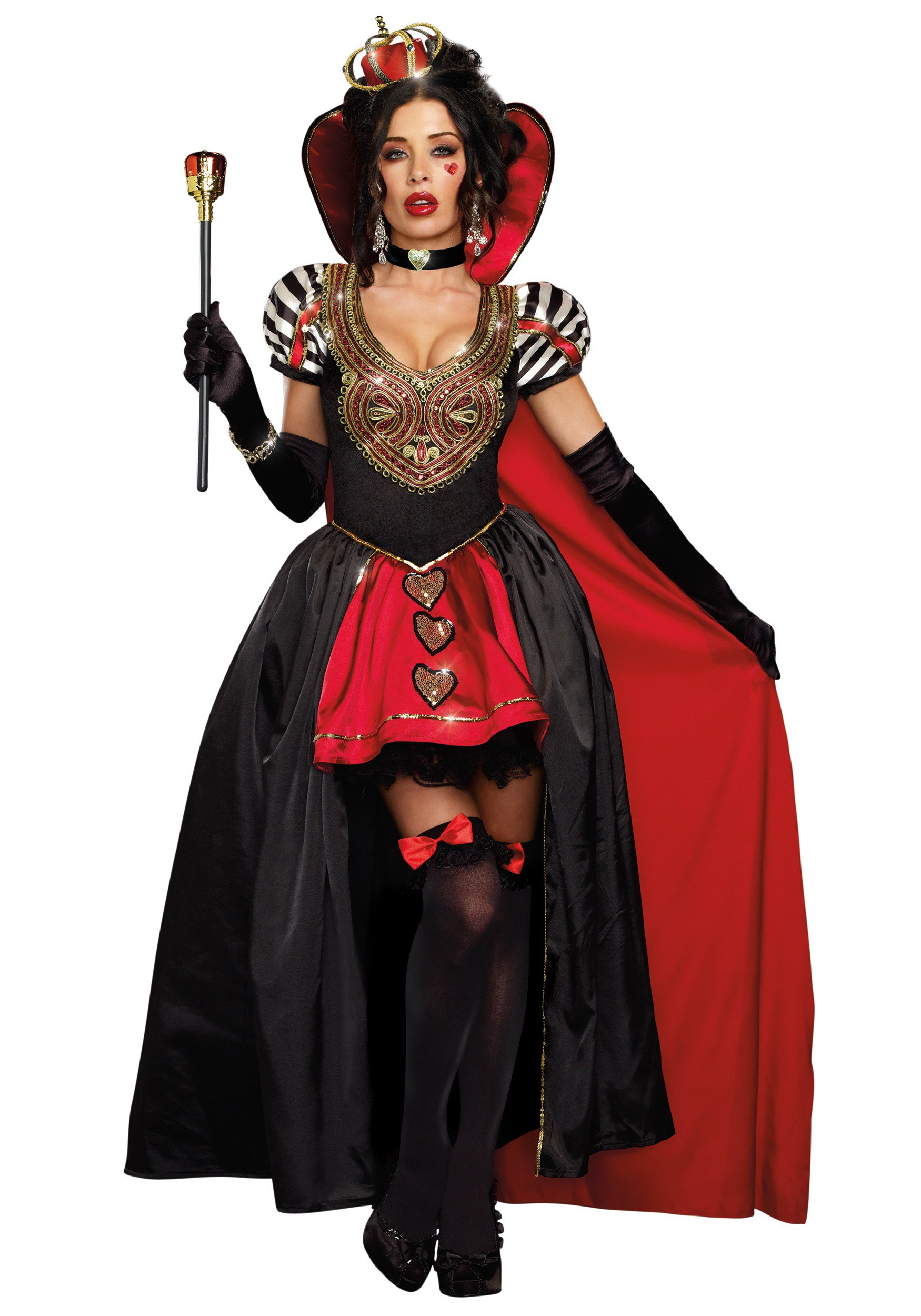 mode la plus désirable bons plans sur la mode style limité Queen of Hearts Adult Costume w/ Cape