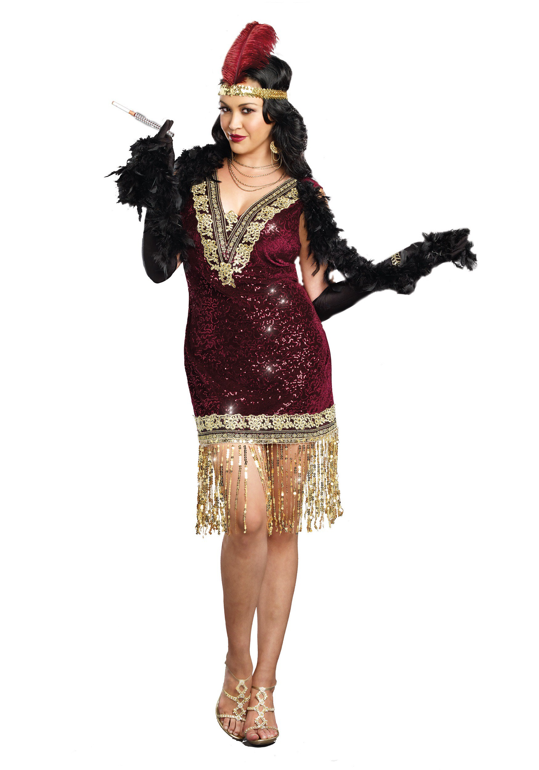 568602574fb Womens Plus Size Sophisticated Lady Flapper Dress Costume