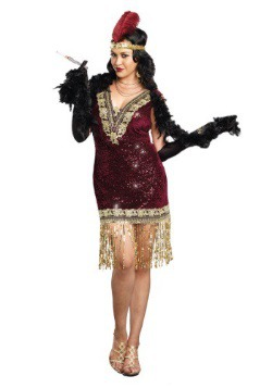 Sophisticated Lady Plus Size Flapper Dress