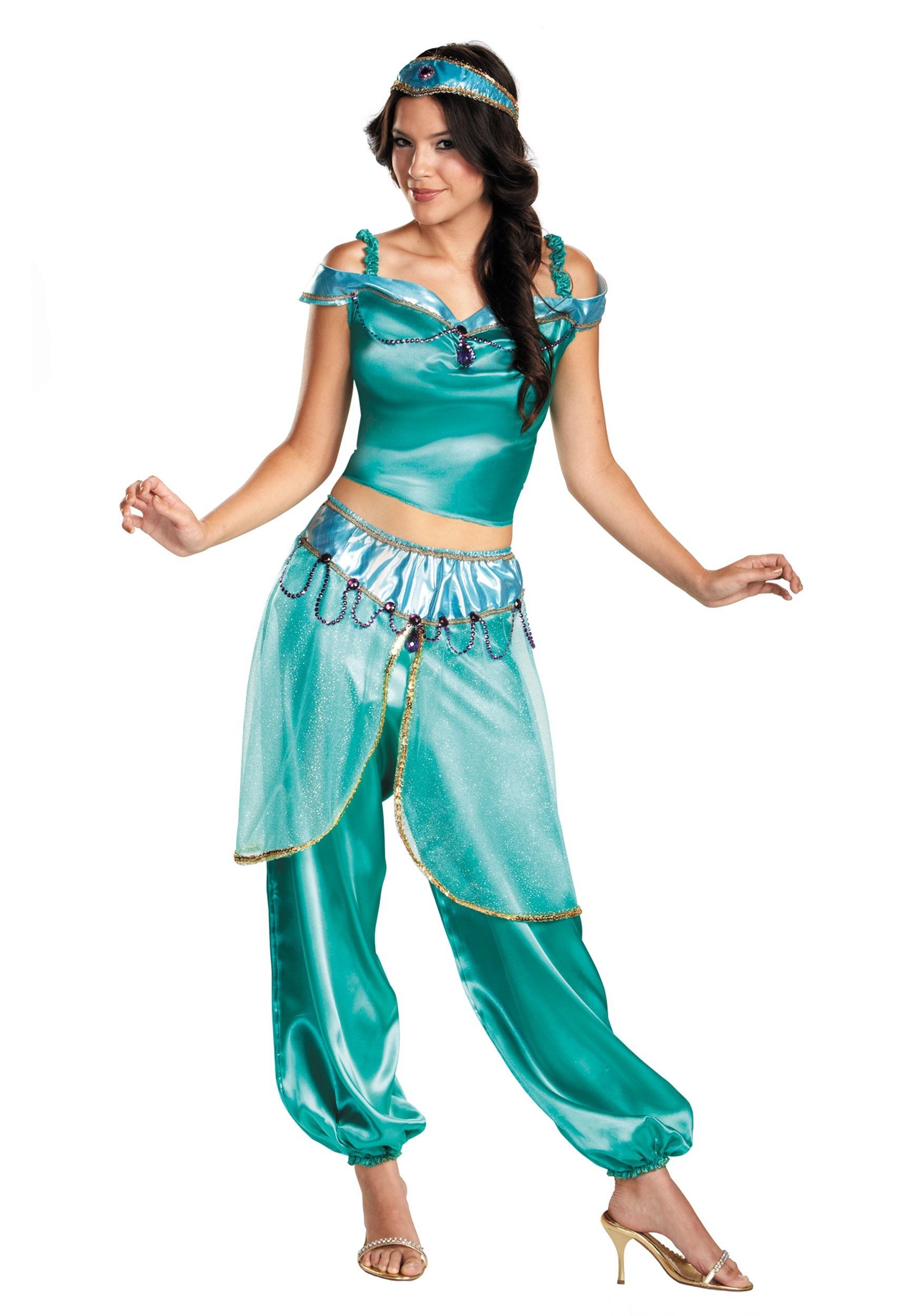 Womenu0027s Princess Jasmine Costume  sc 1 st  Fun.com & Princess Jasmine Womenu0027s Costume from Aladdin