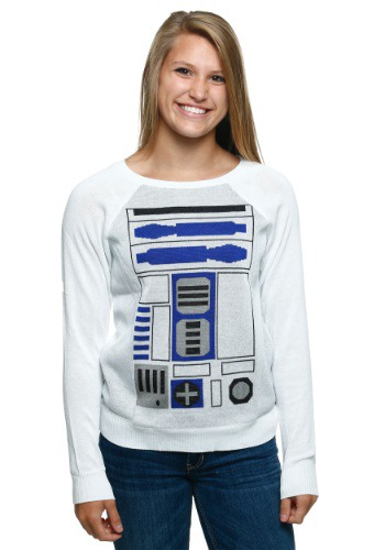 Womens R2D2 Simple Sweater