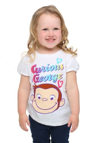 Toddler Girls Curious George Smile T-Shirt