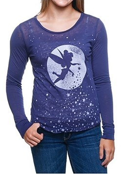 Peter Pan Tink Fly Moon Stars Juniors Pullover