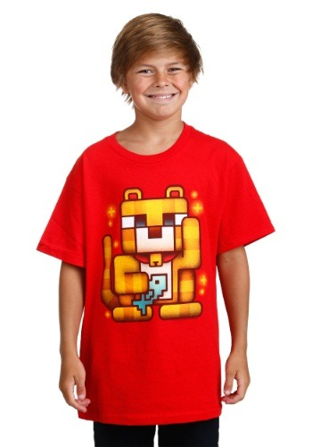 Kids Minecraft Lucky Ocelot T-Shirt