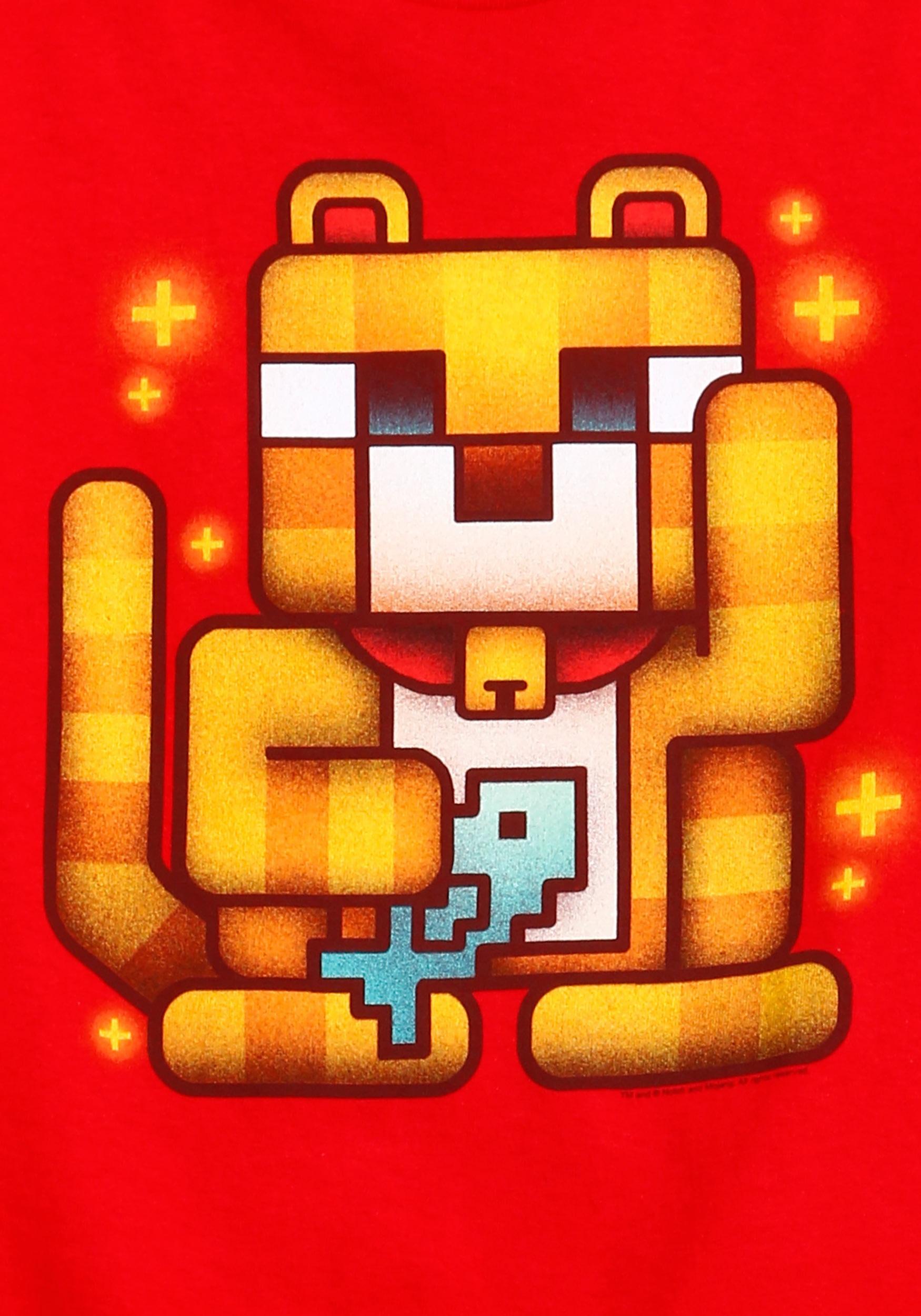 Kids Minecraft Lucky Ocelot T Shirt