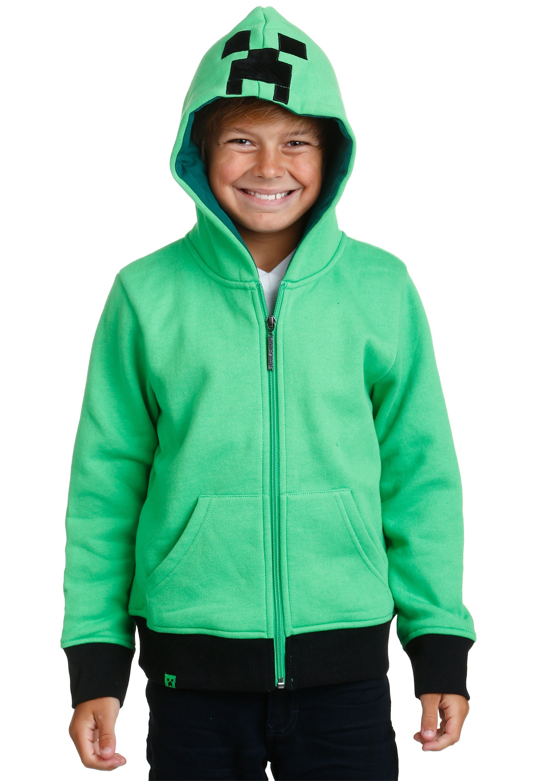 Kids Creeper Anatomy Costume Hoodie From Minecraft