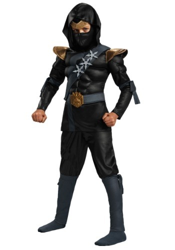 Classic Boys Black Ninja Muscle Costume - from $39.99