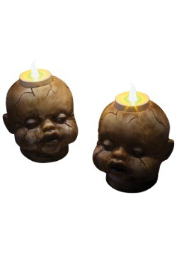 Decoration Cracked Doll Head Tealight Set