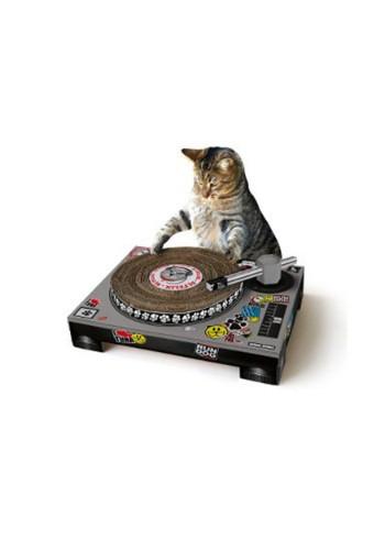 Corrugated Cardboard Cat Scratching DJ Deck