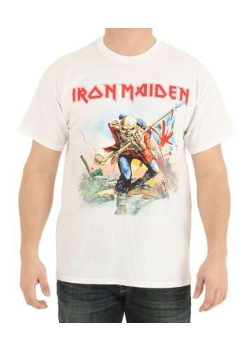 Iron Maiden Trooper White Shirt