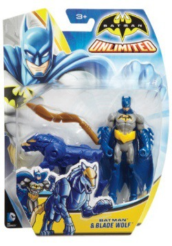 "4"" Batman and Blade Wolf Figure Set"