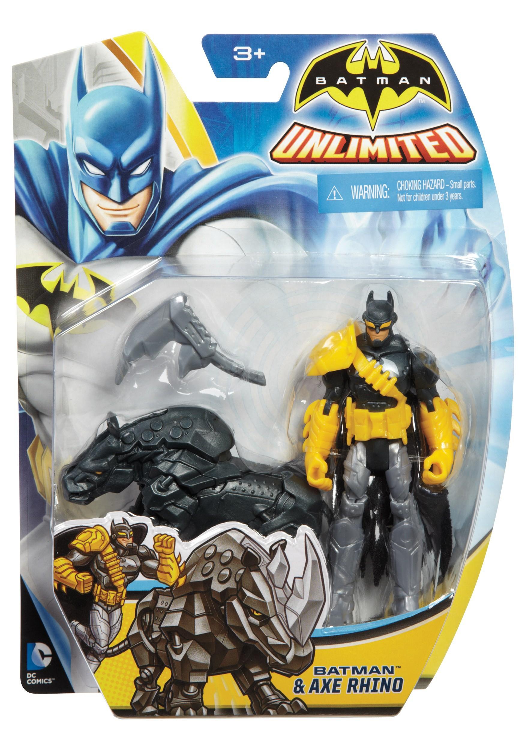 "4"" Batman and Axe Rhino Figure Set MLCDV94"