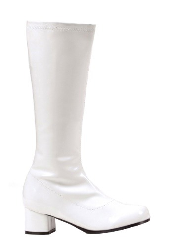 Girls White Go Go Disco Costume Boots Update1