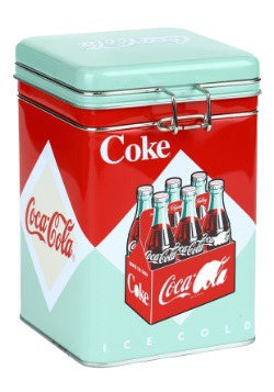 Coke 6-Pack Square Lock Top Tin