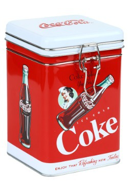 Ice Cold Coke Square Lock Top Tin
