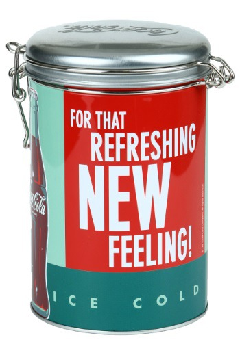 Coke Refreshing Round Lock-Top Tin
