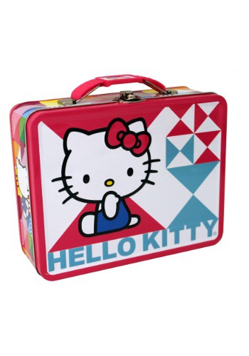 Seated Hello Kitty Embossed Lunch Box