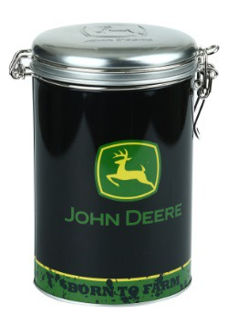John Deere Born To Farm Round Lock-Top Tin