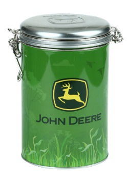 John Deere Green Round Lock-Top Tin