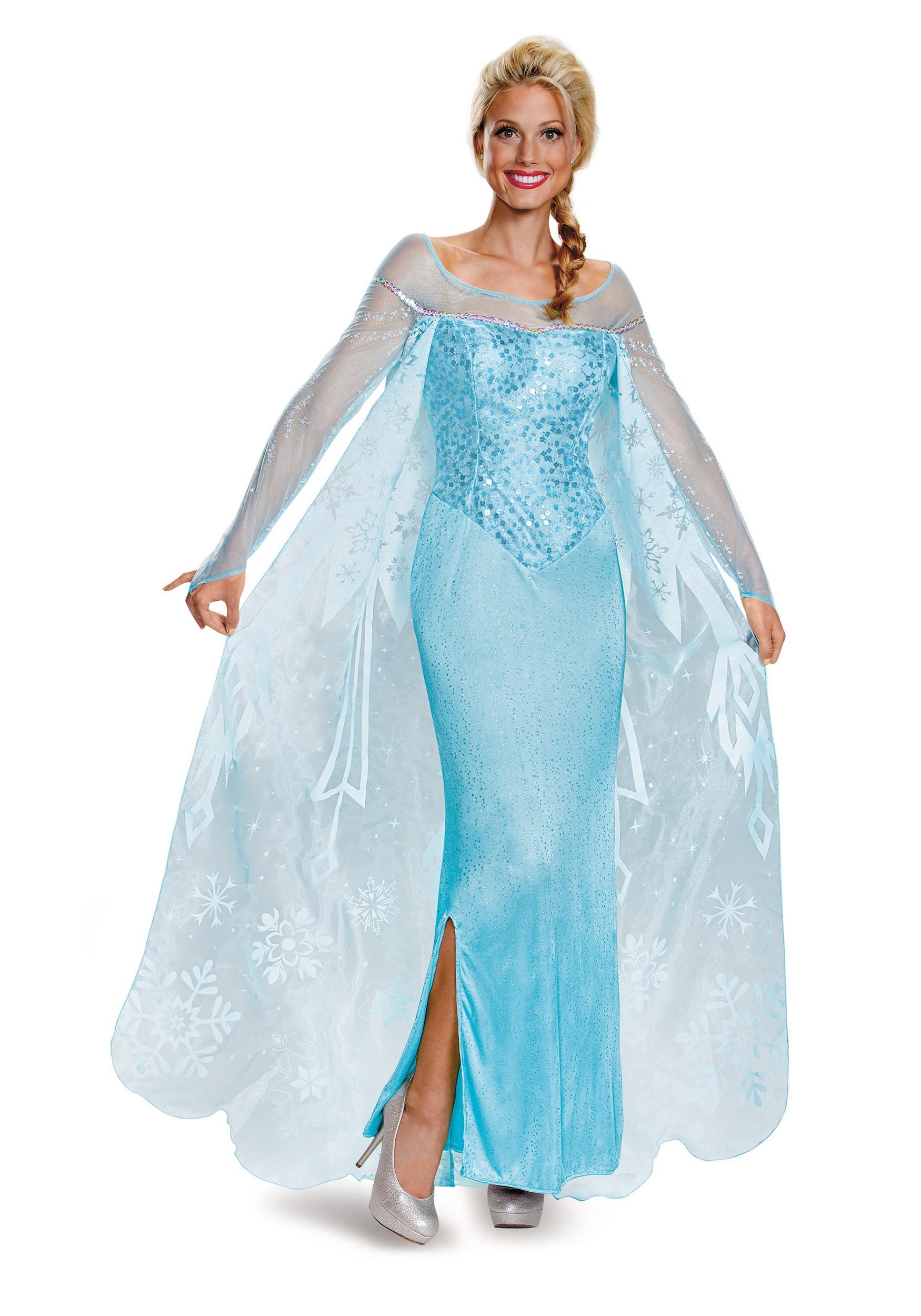 Frozen elsa prestige adults costume frozen elsa prestige womens costume voltagebd Choice Image