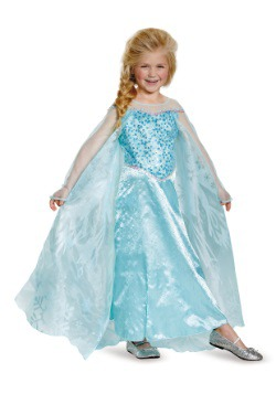 Girls Frozen Elsa Prestige Costume