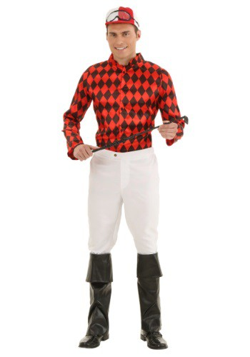 Men's Plus Size Jockey Costume