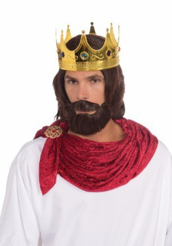 Royal King Wig And Beard Adult Set