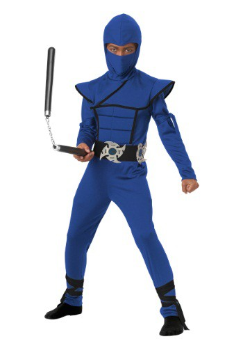 Blue Stealth Ninja Costume For Kids