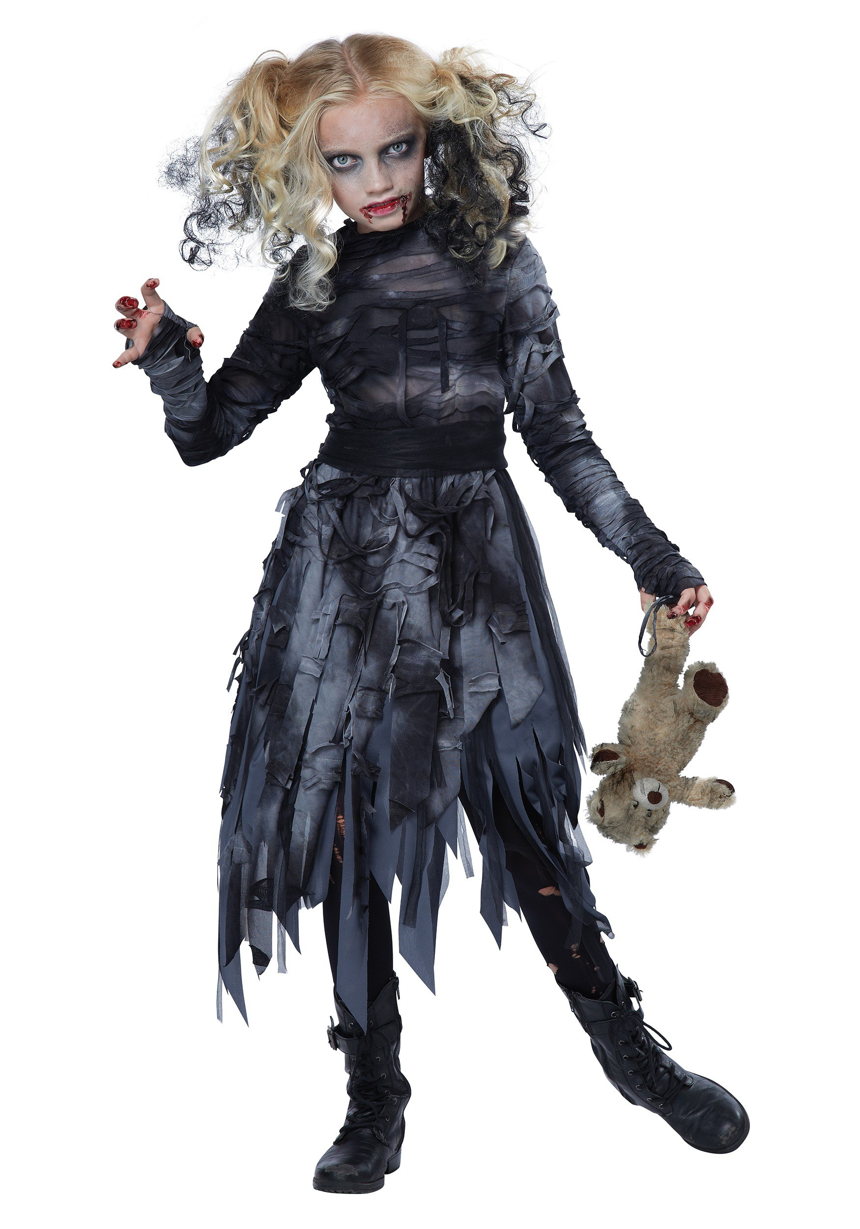 Scary Costumes for Girls Hungry Zombie Childrens Halloween Costume