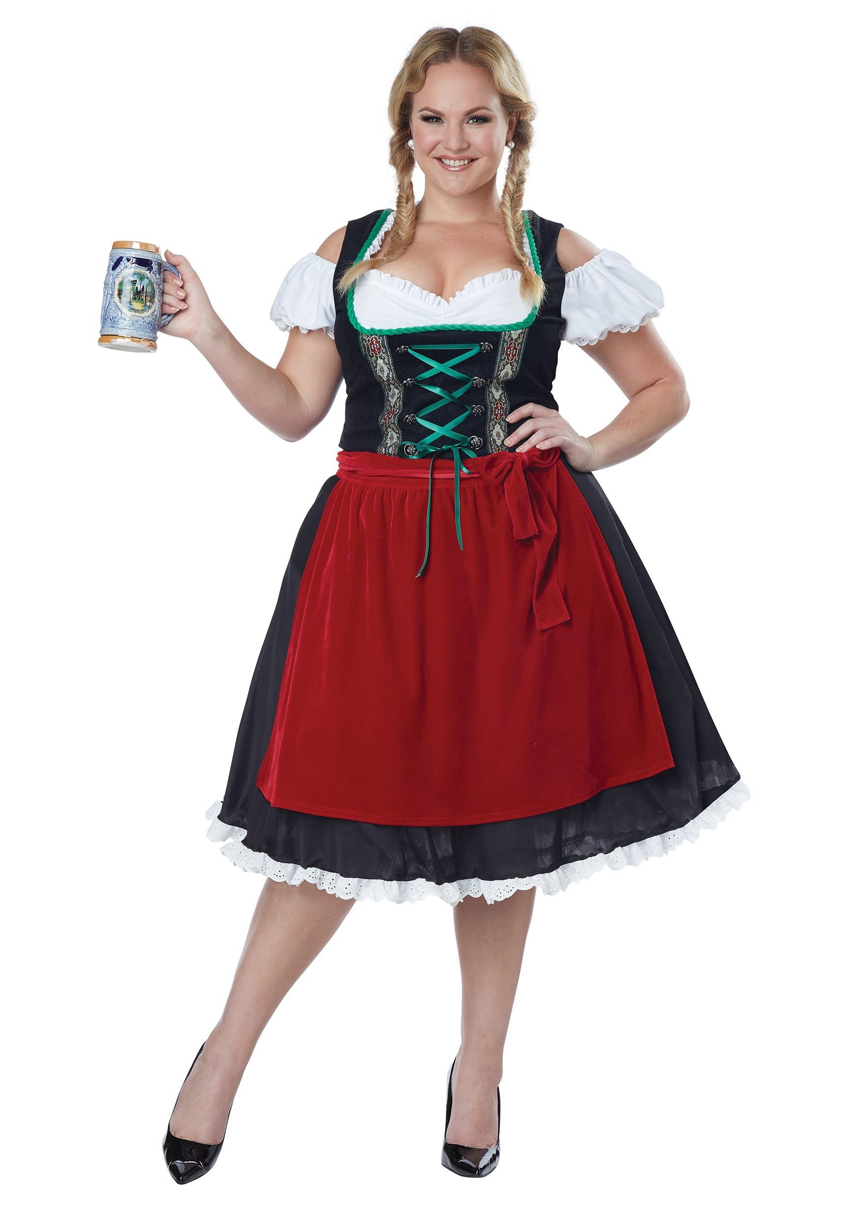 Women\'s Plus Size Oktoberfest Fraulein Costume