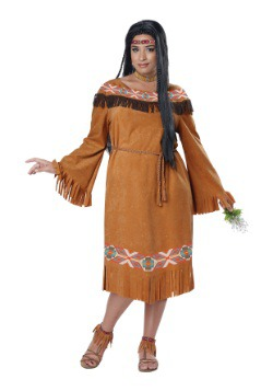 Women's Native Maiden Plus Size Costume